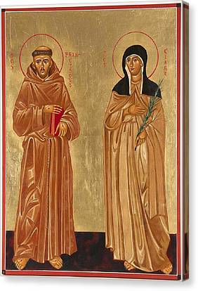 St. Francis Of Assisi And St. Clare Canvas Print by Joseph Malham