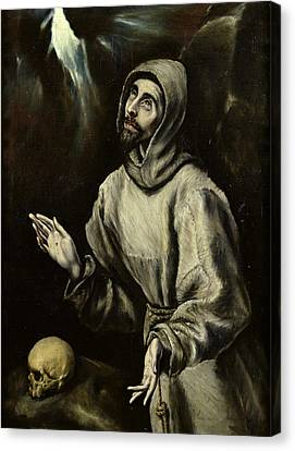 St Francis Of Assisi Receiving The Stigmata Canvas Print by Celestial Images