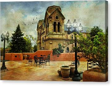 St. Francis Of Assisi Santa Fe Canvas Print by Diana Angstadt