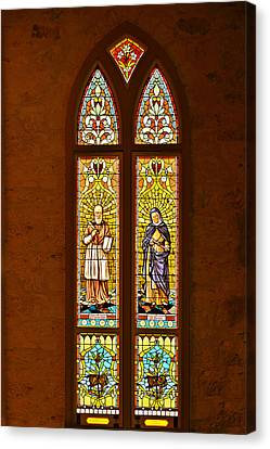 St Francis Of Sales And St Monica Canvas Print by Christine Till