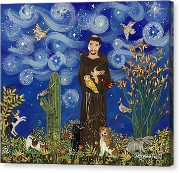 St. Francis Starry Night Canvas Print by Sue Betanzos