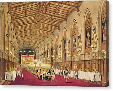 St Georges Hall At Windsor Castle Canvas Print by James Baker Pyne