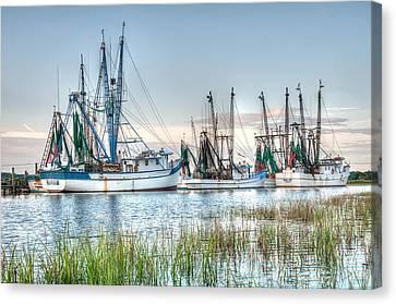 St. Helena Island Shrimp Boats Canvas Print by Scott Hansen