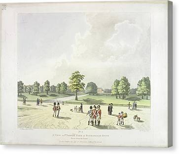 St James's Park In The Eighteenth Century Canvas Print by British Library