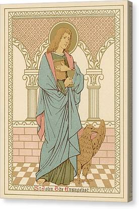 St John The Evangelist Canvas Print by English School