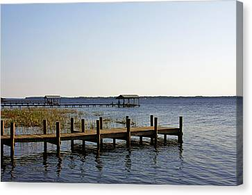 St Johns River Florida - Walk This Way Canvas Print by Christine Till