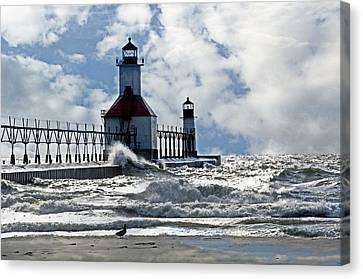 St Joseph Lighthouse Canvas Print by Cheryl Cencich