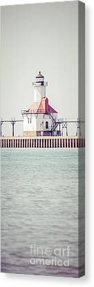 St. Joseph Lighthouse Vertical Panorama Photo Canvas Print by Paul Velgos