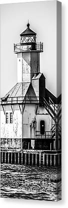St. Joseph Lighthouse Vertical Panorama Picture  Canvas Print by Paul Velgos