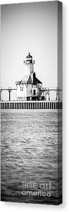 St. Joseph Lighthouse Vertical Panoramic Photo Canvas Print by Paul Velgos