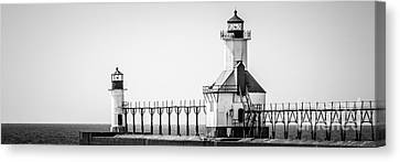 St. Joseph Lighthouses Panorama Picture Canvas Print by Paul Velgos