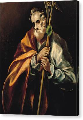 St Jude Thaddeus Canvas Print by Celestial Images