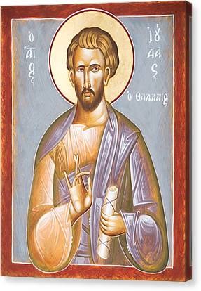 St Jude Thaddeus Canvas Print by Julia Bridget Hayes