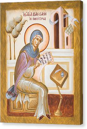 St Kassiani The Hymnographer Canvas Print by Julia Bridget Hayes