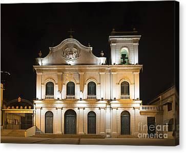St Lazarus Church In Macau China Canvas Print by Jacek Malipan