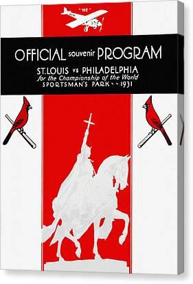 St. Louis Cardinals 1931 World Series Program Canvas Print by Big 88 Artworks