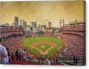 St. Louis Cardinals Busch Stadium Texture 9252 Canvas Print by David Haskett