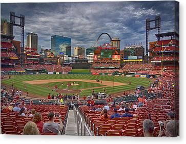 St Louis Cardinals Busch Stadium Dsc06139 Canvas Print by Greg Kluempers