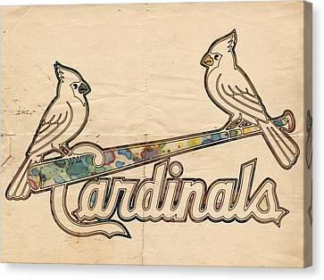 St Louis Cardinals Poster Art Canvas Print by Florian Rodarte