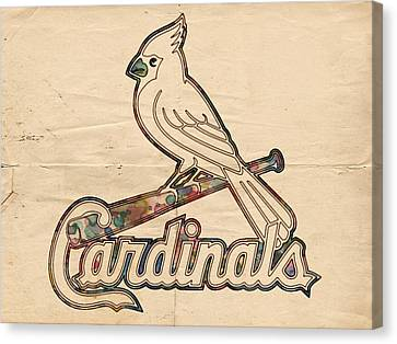 St Louis Cardinals Poster Vintage Canvas Print by Florian Rodarte