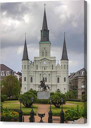 St. Louis Cathedral Vid Canvas Print by Chris Moore