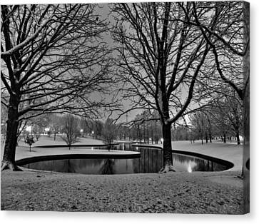 St. Louis - Winter At The Arch 001 Canvas Print by Lance Vaughn