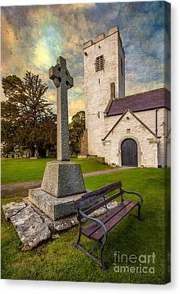 St. Marcellas Celtic Cross Canvas Print by Adrian Evans