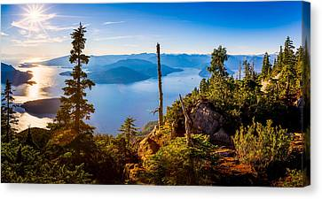 St Mark's Summit Near Vancouver Canvas Print by Alexis Birkill