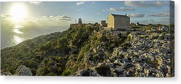 St. Mary Magdalene Chapel At Sunset Canvas Print by Panoramic Images
