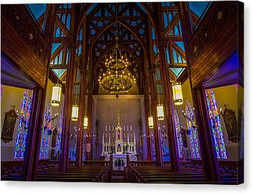 St. Mary's Of The Mountains Church Canvas Print by Scott McGuire