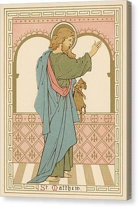 St Matthew Canvas Print by English School