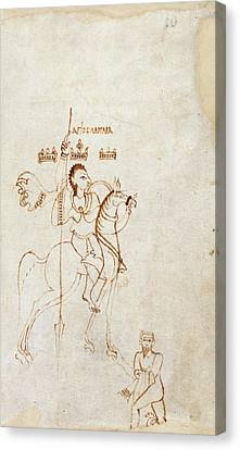 St Menas Canvas Print by British Library