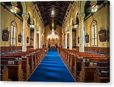 St. Michael The Archangel Church Sanctuary Canvas Print by Andy Crawford