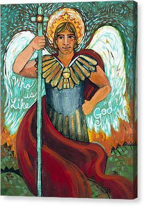 St. Michael The Archangel Canvas Print by Jen Norton