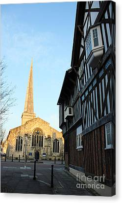 St Michael's Church And Tudor House Southampton Canvas Print by Terri Waters