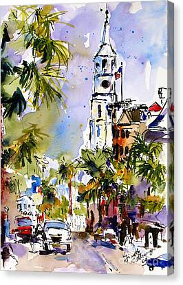 St Michael's Church Charleston South Carolina Canvas Print by Ginette Callaway