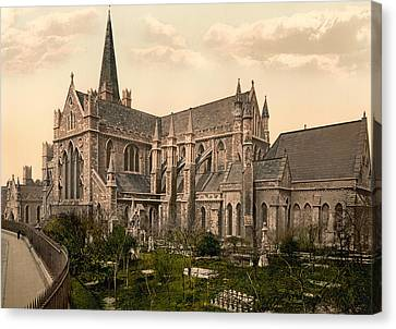 St Patrick's Cathedral - Dublin Ireland 1897 Canvas Print by Mountain Dreams