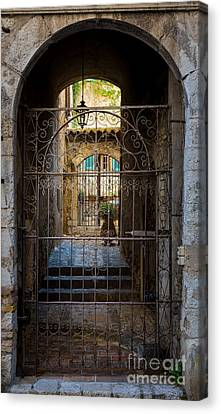 St Paul Courtyard Canvas Print by Inge Johnsson