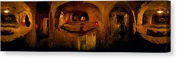 St. Pauls Catacombs, Rabat, Malta Canvas Print by Panoramic Images