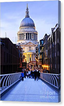 St. Paul's Cathedral London At Dusk Canvas Print by Elena Elisseeva