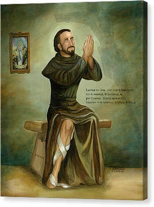 St Peregrine Canvas Print by Cecilia Brendel