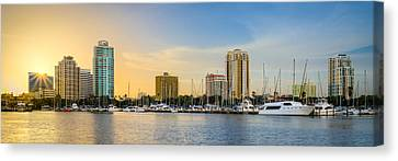 St Pete Sun Canvas Print by Clay Townsend