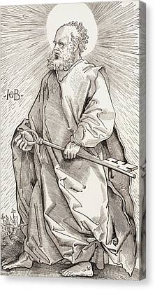 St Peter Holding The Keys Of The Kingdom Of Heaven Canvas Print by French School