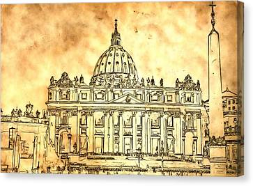 St. Peter's Basilica Canvas Print by Dan Sproul