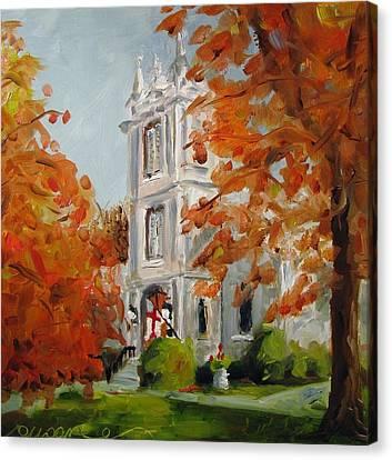 St Peters Episcopal Church Canvas Print by Susan E Jones