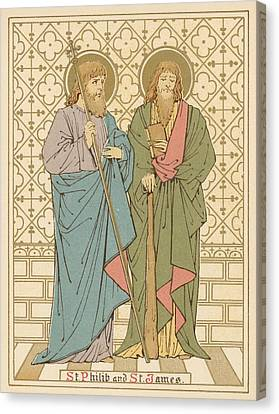 St Philip And St James Canvas Print by English School