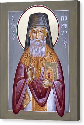 St Porphyrios The Kavsokalyvitis Canvas Print by Julia Bridget Hayes