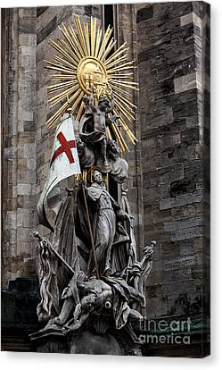 St. Stephens Sculpture Canvas Print by John Rizzuto