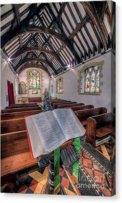 St Tysilios Bible Canvas Print by Adrian Evans