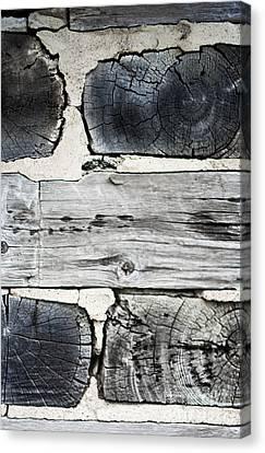 Stacked Block Abstract Canvas Print by Barbara McMahon
